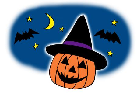 ハロウィン帽子かぼちゃイラスト