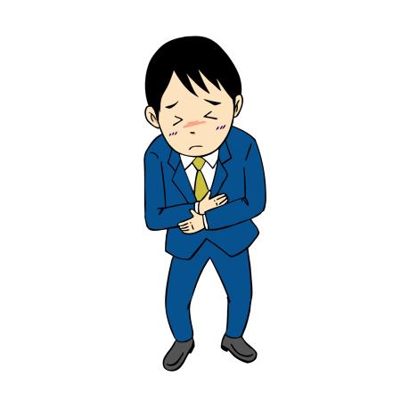 腹痛に苦しむ男性イラスト