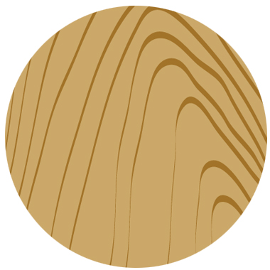 木目柄イラスト丸形素材