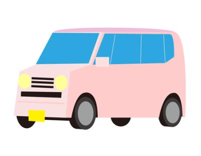 ピンク軽自動車イラスト
