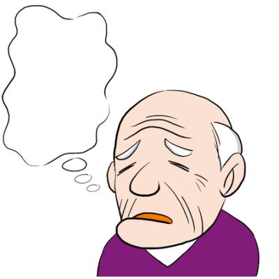 困った顔のおじいちゃん