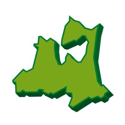 青森県3D地図イラスト