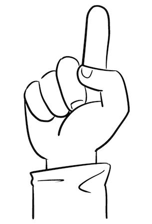 人差し指線画イラスト