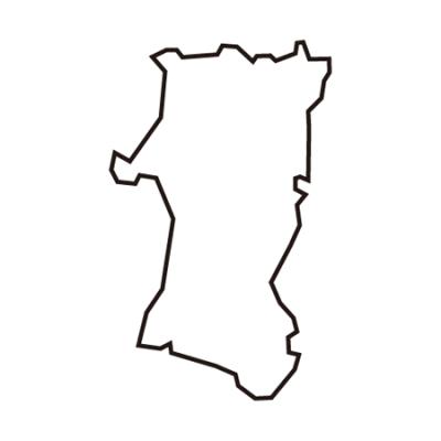 秋田県地図イラスト線画
