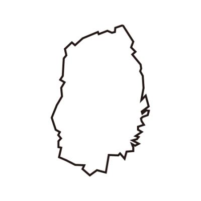 岩手県地図イラスト線画