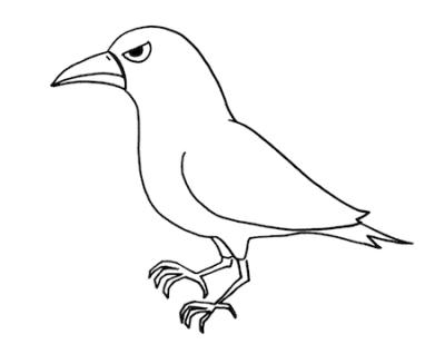 crowカラスのイラスト線画