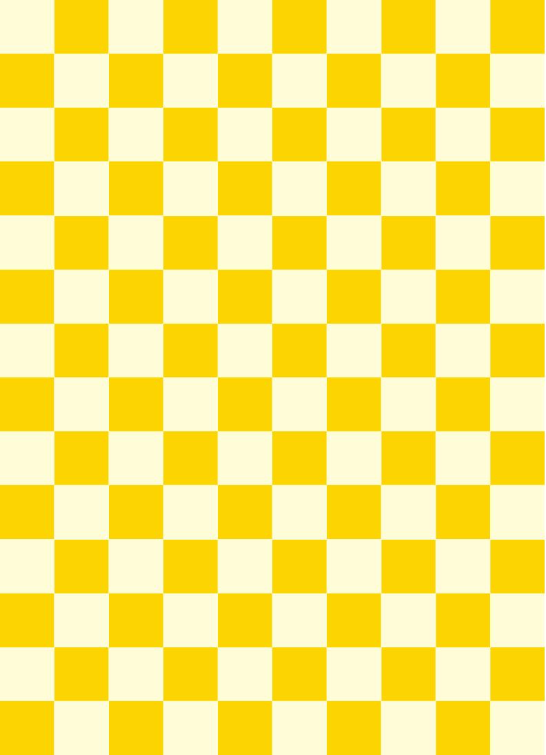 市松模様黄色