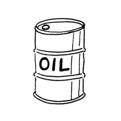 ドラム缶イラスト線画
