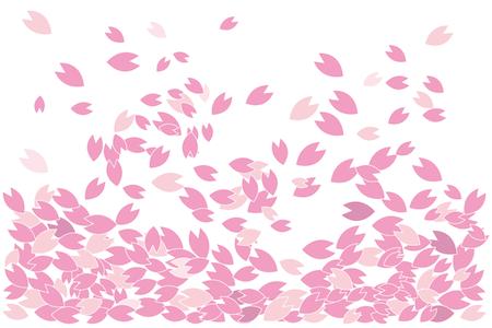 桜の花びらが舞うイラスト