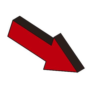 3D立体矢印3