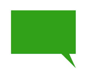 四角吹き出しイラスト緑色