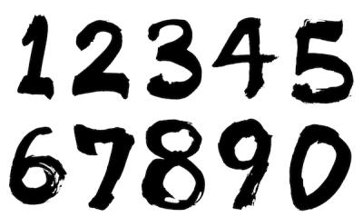 墨文字数字和風素材