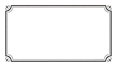 アンティーク風罫線フリー素材