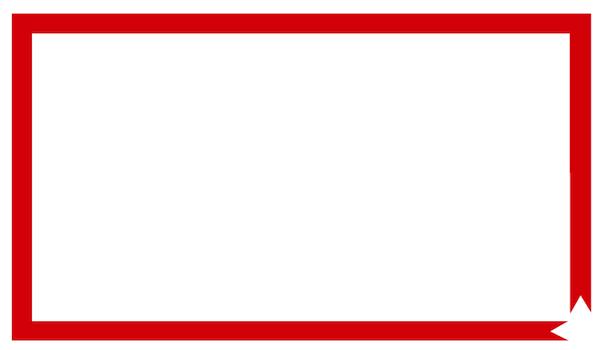 赤いリボンテープ枠フレーム1
