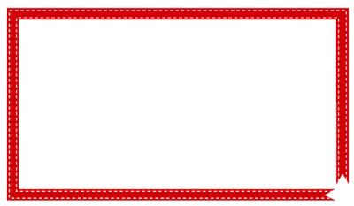 赤いリボンテープ枠フレーム2