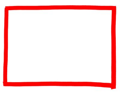 マーカーペン枠フレーム素材赤