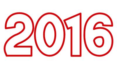 2016年文字イラストアウトライン