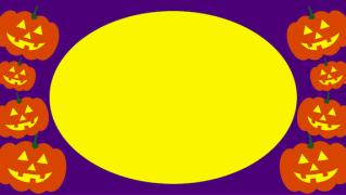 紫背景のお化けカボチャイラスト