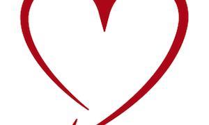 ハート型の矢印