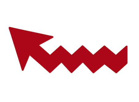 ジグザグ形の矢印