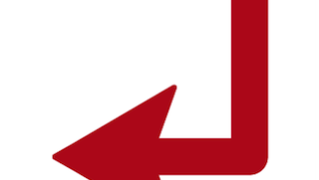 コの字デザインの矢印