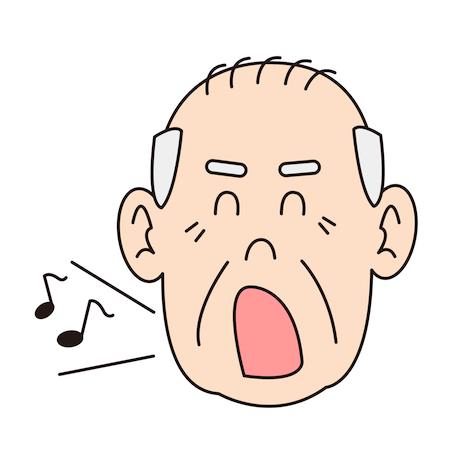 歌っているおじいちゃんイラスト