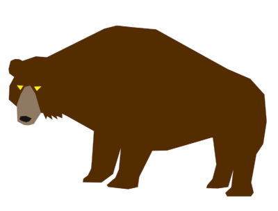 野生の熊イラスト