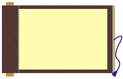 巻物イラストフレーム枠和風素材