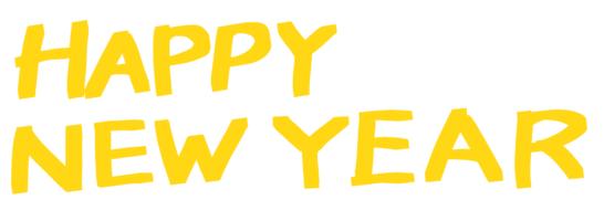 HAPPY NEW YEARハッピーニューイヤーマーカーペン黄色