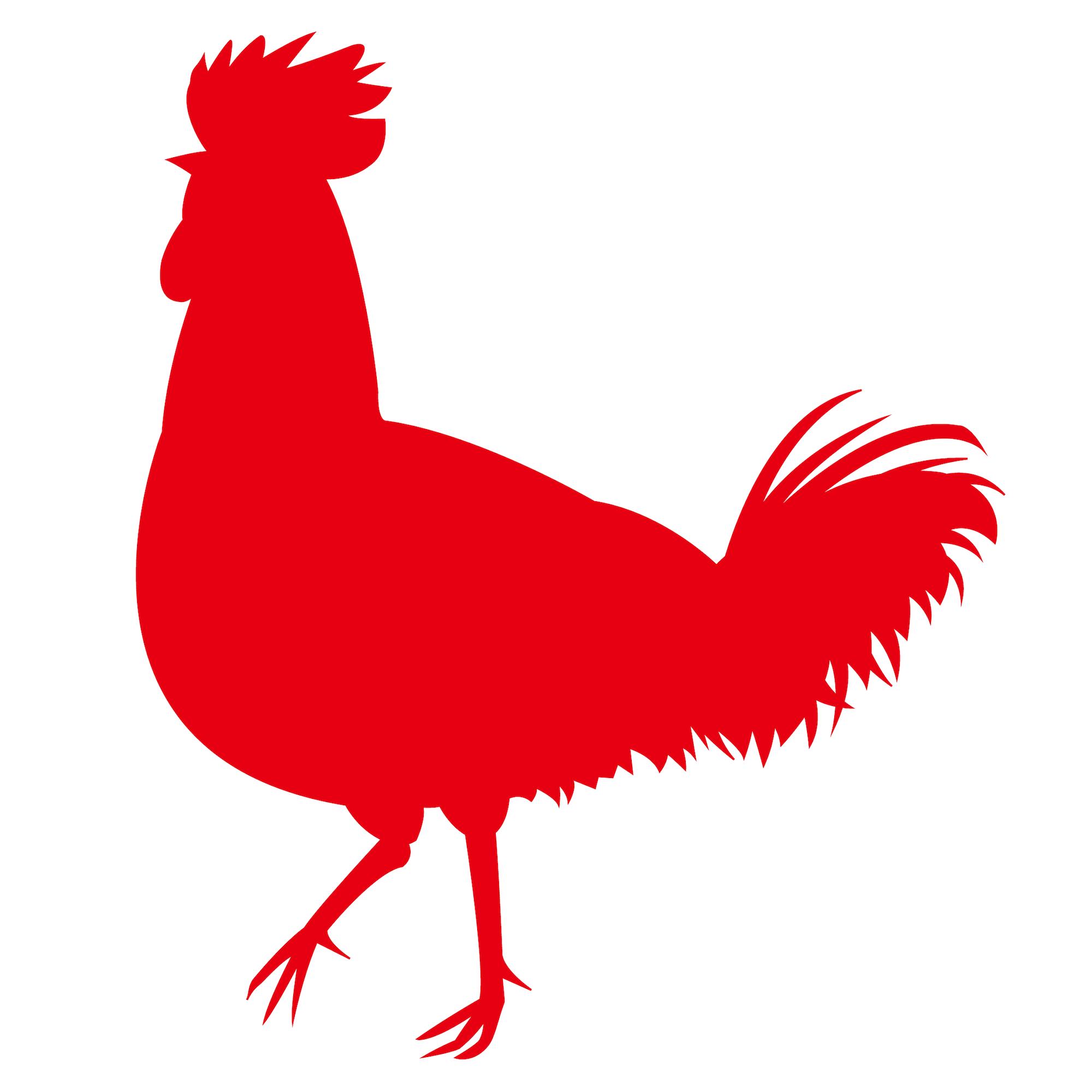 ニワトリ鶏☆シルエット影絵イラスト