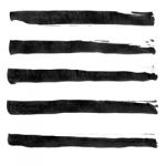 墨で描いた線ライン