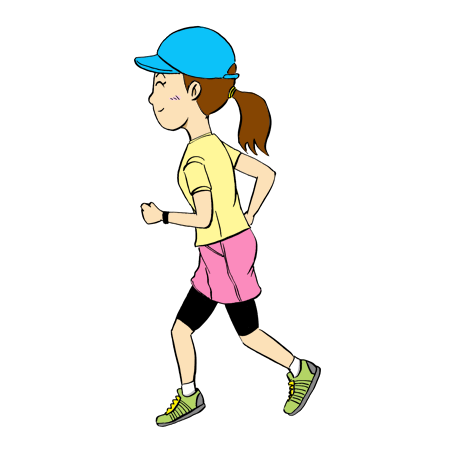 女性ランナーマラソンイラスト2