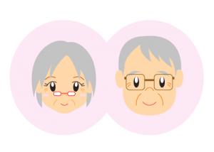 敬老の日夫婦の無料イラスト