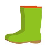 緑のレインブーツ長靴
