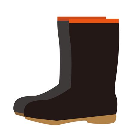 黒レインブーツ長靴