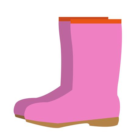 ピンクレインブーツ長靴