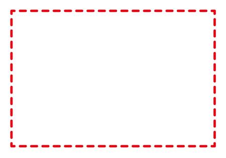 点線フレーム赤