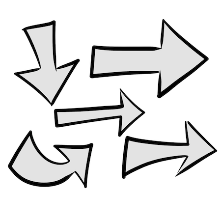 フリー素材手書き矢印