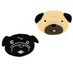 黒パグ犬顔イラスト