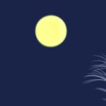 15夜、お月見イラスト
