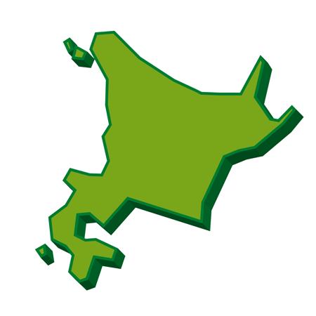 北海道3D地図イラスト