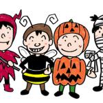 ハロウィンの子どもたちイラスト
