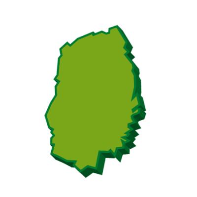 岩手県地図イラスト3D