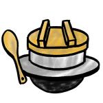 お米の釜炊きイラスト