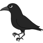 crowカラスのイラスト