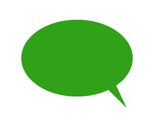 楕円形吹き出しイラスト緑
