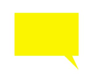 四角吹き出しイラスト黄色