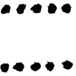 点状の墨枠フレーム和風素材