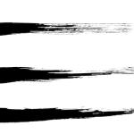 墨の横線アンダーライン素材