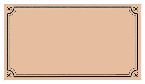 アンティーク風ラベルフレーム枠2